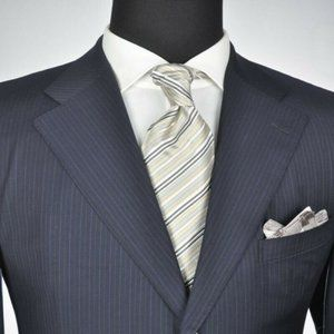 ZEGNA Navy Super 100's 3Btn Suit